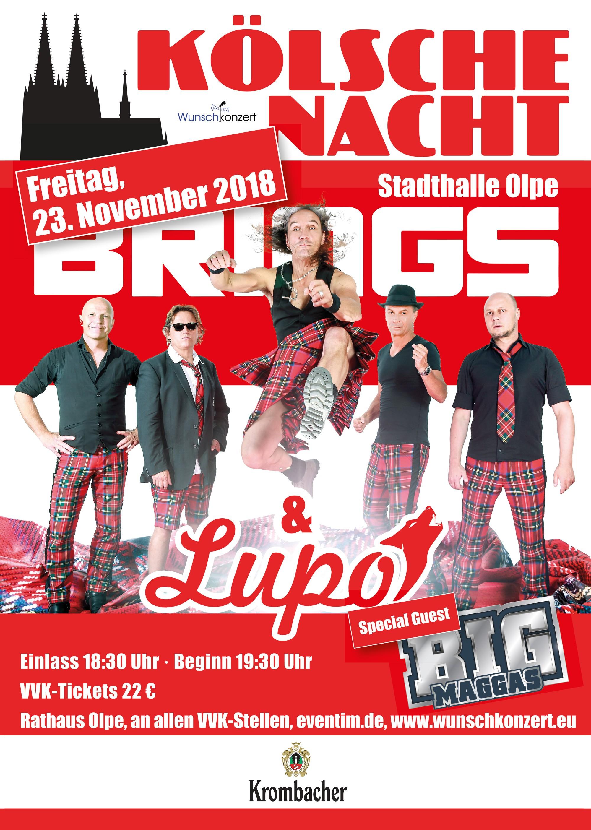 Kölsche Nacht mit Brings & Lupo - Special Guest: Big Maggas